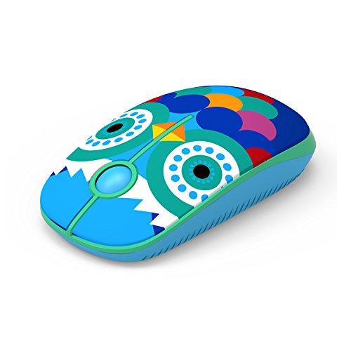 Jelly Comb Mouse senza fili 2.4 Ghz con Nano ricevitore per il computer portatile/Macbook/Tablet, preciso e silenzioso (gufo)