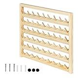 HAITRAL 54 bobinas de hilo de coser de madera, soporte de hilo para colgar en la pared, organizador de madera para costura, acolchado, bordado, joyas
