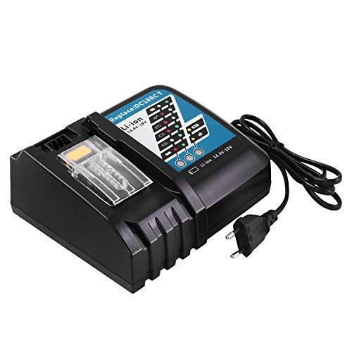 14.4V-18V 7A Cargador de repuesto batería de iones de para Makita BL1860 BL1850 BL1845 BL1840 BL1835 BL1830 BL1815 BL1430 BL1440 BL1450 (Cargador con pantalla LED)