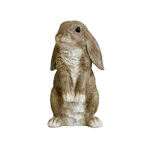 ZGPTX Escultura Estatua decoración Regalo Decorativa Moderno estatuas Figuras Conejito de Resina Figuras de Conejo Decoración de jardín Jardín de Arte al Aire Libre Jardín