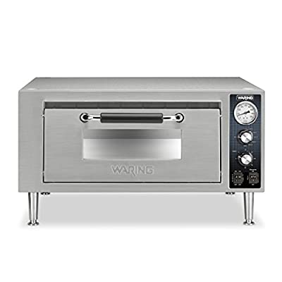 Waring Commercial Single Pizza Oven, 34x34x23.5, Silver