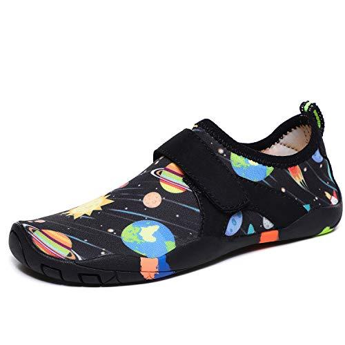 Parcclle Zapatos acuáticos de punto unisex para niños EU38