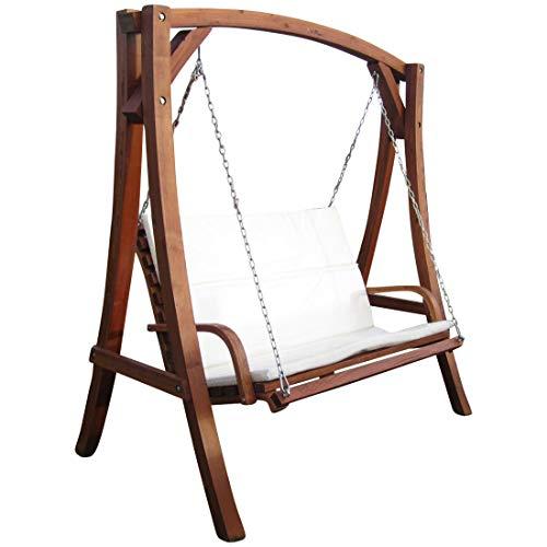 ASS Design Hollywoodschaukel Gartenschaukel Schaukel Holzschaukel Hollywood Swing aus Holz Lärche Modell KUREDO103OD