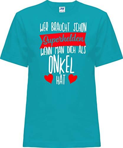 Kleckerliese Nicki T-shirt à manches courtes pour enfant Motif super-héros - Turquoise - 0 ans