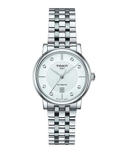 Tissot Damen-Uhren Analog Automatik One Size Edelstahl 87603717