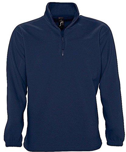 Sol'S Ness - Sweat Shirt Polaire Homme - Col Montant à Zip - Tissu avec Finition Anti-bouloche - Marine - 3XL