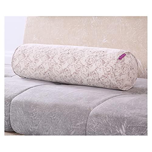 ZSFBIAO Almohada de Tiro Almohada Cervical Blandos Decoración Almohada con Funda Lavable para Dormir de Lado, de Espalda y de Estómago (Size:40 * 15cm,Color:Rosa)