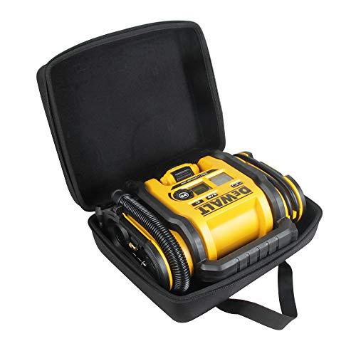 Hermitshell Hard Travel Case for DEWALT DCC020IB 20V Max Inflator (Case for Inflator + Battery Pack, Black)