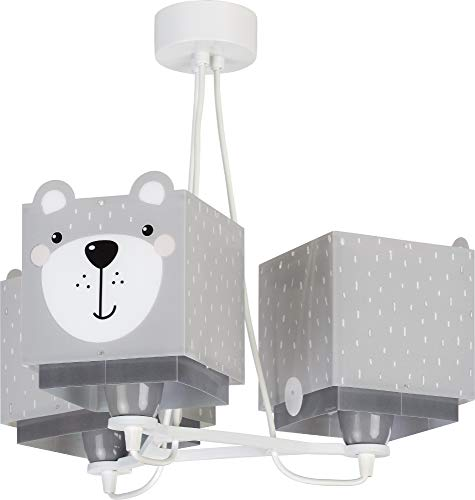 Dalber kinderlampe Pendelleuchte Hängelampe 3 Lichter Little Teddy Bär Tiere, Grau