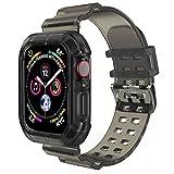 コンパチブル Apple Watch バンド 38mm 40mm 42mm 44mm, 耐衝撃 保護ケース コンパチブル アップルウォッチ バンド iWatch バンド バンド に対応 Series 6 SE 5 4 3 2 1