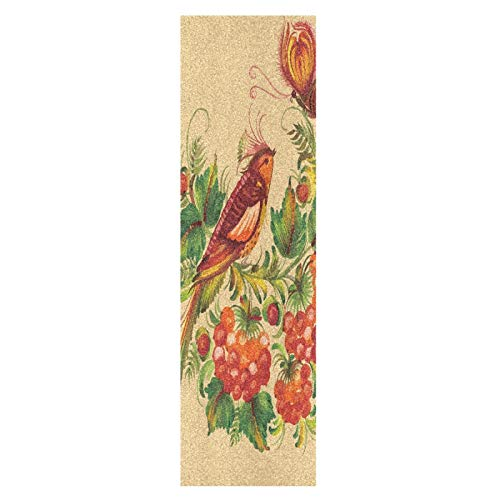 Lindo Pájaro Fénix Vintage Monopatín Papel de Lija Antideslizante Hoja Cinta de Agarre Lijas para Patineta Scooter Etiquetas engomadas (84 x 23 cm)