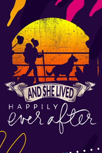 Account Information Notebook - She Lived Happily Ever After Camping Hiking Dog Lover Gift
