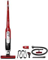 Bosch BCH6ZOOO Zooo ProAnimal Aspirador sin cable con kit de accesorios ProAnimal especial mascotas, batería de 25,2 V, color rojo