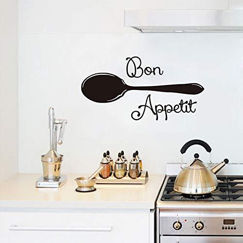 Moderne Vinyl Aufkleber Esszimmer Küche Großen Löffel Wandtattoos Wohnkultur Wasserdicht Abnehmbare Wanddekor Kunstwerk