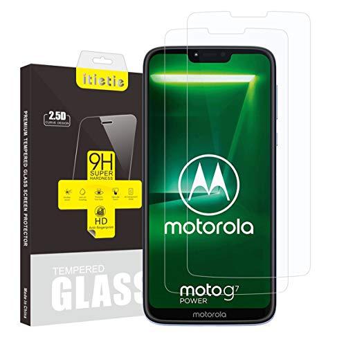 """iTieTie 2 Pacchi Pellicola Protettiva Moto G7 Power 6.2"""", Senza Bolle, Alta Definizione, AntiGraffio, 9H Durezza, Vetro Temperato Protezione Schermo per Motorola Moto G7 Power"""