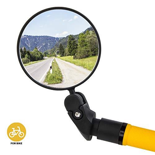 HOOMAGIC Espejo Retrovisor para Bicicleta Ajustable Bici Ciclismo Espejos Retrovisores para Bicicletas de Montaña