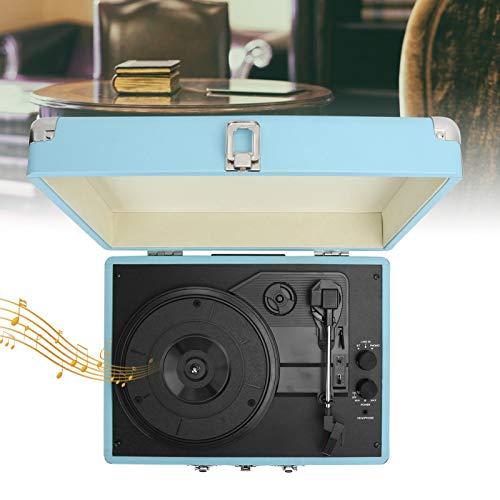 Maleta para Tocadiscos de Vinilo con asa 100-240V Soporte para Tocadiscos Disco de Vinilo de 7/10/12 Pulgadas Discos de película(Transl)