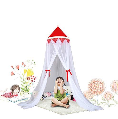 HXPP Doseles Infantile, Baldaquino para Habitación De Los Niños Baby Cama Cielo También como Protección Mosquitos Buena Circulación del (Color : Rojo, Size : 1.5m (5 Feet))