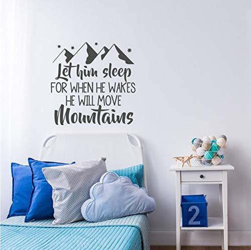 Lovemq Nursery Wall Decal Sayings Bébé Garçon Room Decor Pvc Mur Art Autocollant Pour Enfants Chambres Home Decoration Intérieur Chambre Murale 58X57Cm