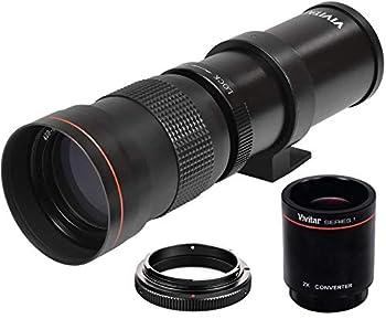 High-Power 420-1600mm f/8.3 HD Manual Telephoto Zoom Lens for Canon EOS 80D EOS 90D Rebel T3 T3i T5 T5i T6i T6s T7 T7I T8I SL3 EOS 70D EOS 5D EOS5D IV EOS 6D II EOS 7D II SLR Cameras
