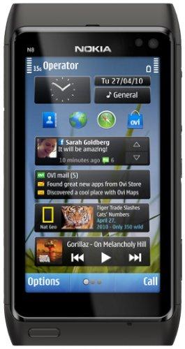 Nokia N8 - Móvil Libre (Pantalla táctil de 3,5' 640 x 360, 16 GB de Capacidad, S.O. Symbian) Color Negro [Importado de Alemania]