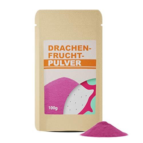 Pitaya-Frucht-Pulver 100g - Drachenfruchtpulver - gefriergetrocknet - ohne Zusätze - glutenfrei - vegan - natürliches Pink - mit wertvollen Nährstoffen