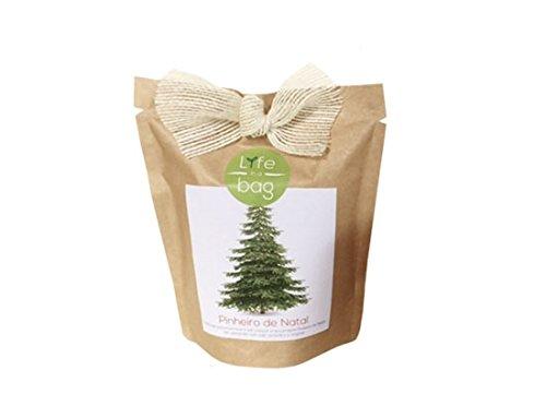 Kit Bio Légumes, aromates, fleurs comestible par Life in a Bag - A cultiver soi-même - Idée cadeau (Pin de Noël)