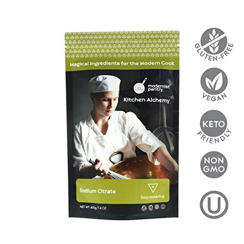 Pure Sodium Citrate ⊘ Non-GMO ❤ Gluten-Free ☮ Vegan ✡ OU Kosher Certified (Molecular Gastronomy) - 400g/14oz