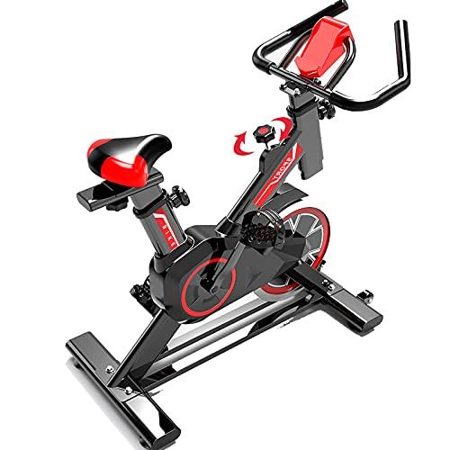 WYLX Bicicleta estática de Interior Bici Profesional Fitness Bicicleta de Asiento para el hogar con Monitor Digital para el hogar Entrenamiento Cardio