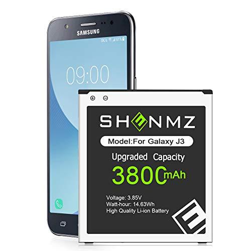 Galaxy J3 Battery,[Upgraded] 3800mAh Li-Polymer EB-BG530BBC Replacement Battery for Samsung Galaxy J3 J320V J320A J320F J320P J327A J327P Samsung Galaxy On5 G550T1 G550T SM-G550F [36 Months Service]