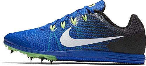 Nike Zoom Rival D 9, Zapatillas con clavo, para atletismo, unisex, Azul (Hyper Cobalt/Black/Ghost Green/White), 36.5 EU