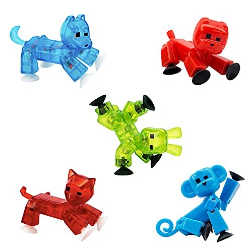 Zing Stikbot Pets 5 Pack, Set of 5 Stikbot Collectable Action Figures,...