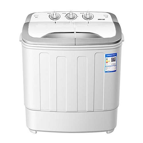 DINJUEN Capacité de lavage 5KG semi-automatique portative de machine à laver de double baril