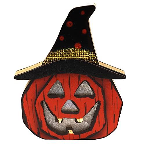 XAZ Halloween Creative Light Decoration, Halloween Pumpkin Lantern Ghost Festival Ornamenti Decorare Dress Up Party Gift Light Up Home Lanterns