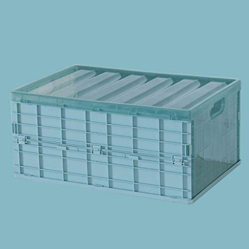ZYING Estuche de Almacenamiento Plegable Duradero con Tapa, Caja organizadora Plegable Gruesa Impermeable para Manta, Libros de Ropa Debajo de la Cama en automóviles (Color : Blue, Size : Large)