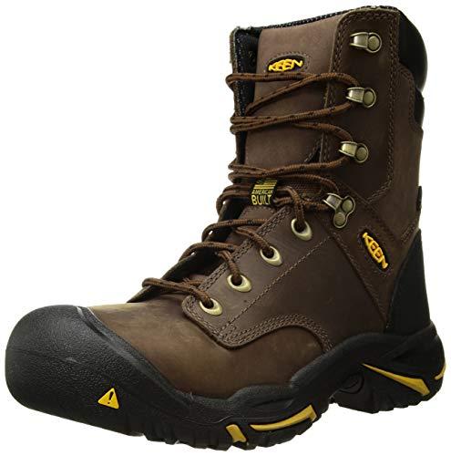 """KEEN Utility mens Mt. Vernon 8"""" Steel Toe Waterproof Work Boot,Cascade Brown,11D"""