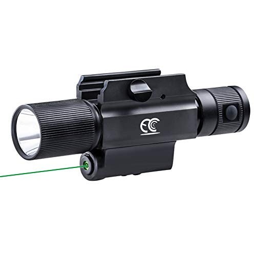 MCCC Tactical Flashlight with Green Laser Sight, Rail Mounted Green...