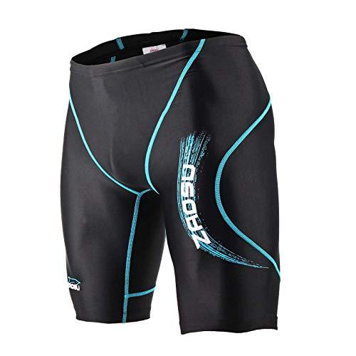 ZAOSU Wettkampf-Schwimmhose Z-Black VITA - Badehose für Jungen und Herren, Farbe:blau, Größe:6