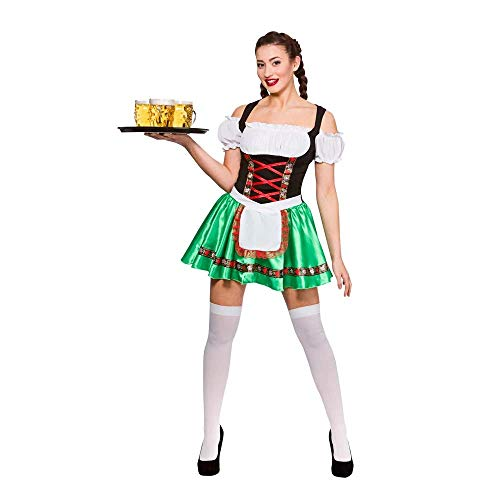 Ladies Oktoberfest Beer Girl Fancy Dress Party Costume Halloween Dirndl Bavarian