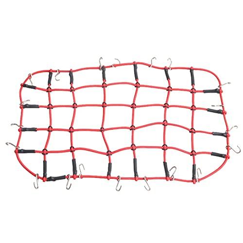 Accesorios de juguete 1/10 control remoto pista de coche D90 Traxxas TRX-4 almacenamiento de malla de red de equipaje, accesorios de decoración de red de techo de carga de equipaje ( Color : Red )