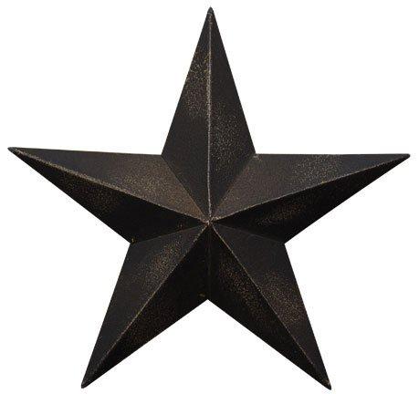 Grace Home Metal Patriotic Old Glory American Flag Black Metal Barn Star July of 4th Decoration (12