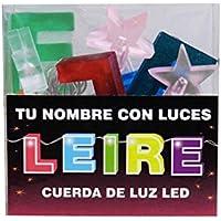 TU NOMBRE CON LUCES - Cadena de luz LED con nombres y símbolos ¡TU NOMBRE EN LAS LUCES! 8 Luces LED con letras, si el nombre tiene menos, viene con símbolos extra como estrellas. (Leire)