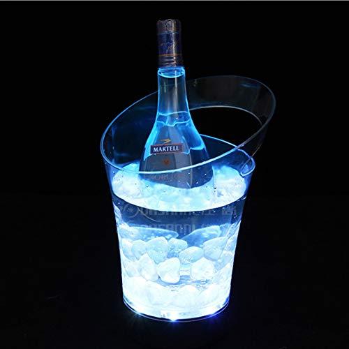 YYCHJU Cerveza Refrigerada Cubitera para Hielo Cambios 7 Color Cargo OPERADO, Cubo DE Ice LED Cambio Cambio Cambio DE Hielo para CAMPOGNE Vino Cerveza Bebidas ROKERS (Color : White)