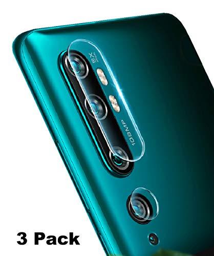 NOKOER Kamera Panzerglas Kompatibel für Xiaomi Mi Note 10/Note 10 Pro, [3 Stück] Superdünnes Gehärtetes 2.5D Kamera Schutzglas, 360 Grad Schutzkamera- Transparent