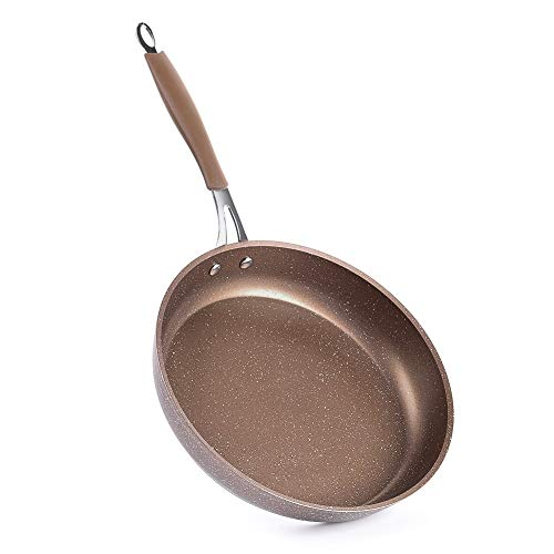 MOKIKA Nonstick Frying Pan, Best Nonstick Omelette Skillet, Stone Coating Cooking Pan, Dishwasher Safe, Induction Compatible(9.5inch)
