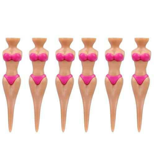 BESPORTBLE 6 Stücke Golf Tees Bikini Dame Mädchen Golf Tees Divot Werkzeug für Golfball Violett