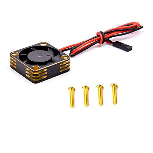 FUIKEING Motor de Ventilador de RefrigeracióN de Metal DisipacióN de Calor para 3650 3660550540 Motor 1/10 RC Car Axial SCX10 TRX4, Amarillo