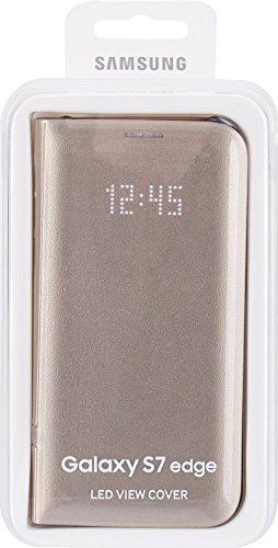 Samsung LED View Cover Hülle für Galaxy S7 edge, gold