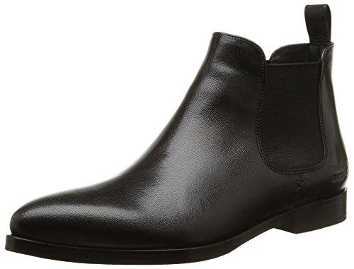 Melvin & Hamilton Damen Jessy 1 Chelsea Boots, Schwarz (Salerno Black/Ela.Black/HRS), 39 EU