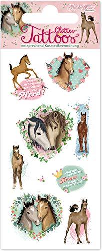 Tapirella Tattoo * Pferde & FOHLEN * vom Mauder-Verlag   49035   Kindertattoo Kinder Geburtstag Mitgebsel Tiere Aufkleber